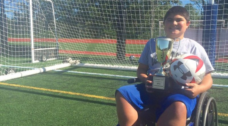 Jared Conant, 12, who is the Maine ambassador for the Muscular Dystrophy Association, is holding a charity soccer tournament Aug. 25 in Yarmouth to raise money for the organization.